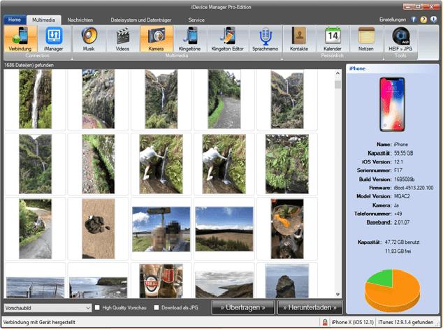 iDevice Manager Fotos zum iPad übertragen